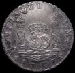 London Coins : A171 : Lot 671 : Mexico 8 Reales 1757 Mo MM KM#104.2 in an ICG holder and graded EF45 Details - Cleaned