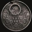 London Coins : A171 : Lot 677 : Mozambique Rupee undated, Countermarked Coinage of 1889 Crowned P.M countermark on India One Rupee 1...