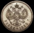 London Coins : A171 : Lot 695 : Russia Rouble 1886 A? Y#46 Near EF, the obverse with a thin scratch in the field, A high grade examp...