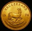 London Coins : A171 : Lot 710 : South Africa Krugerrand 1974 KM#73 UNC with good subdued lustre