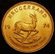 London Coins : A171 : Lot 711 : South Africa Krugerrand 1974 KM#73 UNC with good subdued lustre