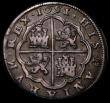 London Coins : A171 : Lot 719 : Spain 8 Reales 1651 I KM#111 Segovia Mint, mintmark Aqueduct VF