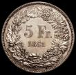 London Coins : A171 : Lot 730 : Switzerland 5 Francs 1851A KM#11 bright  EF and scarce in high grade