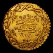 London Coins : A171 : Lot 736 : Turkey Half Cedid Mahmudiye Gold AH1223/29 (1837), 0.80 grammes, KM#644 About EF and lustrous