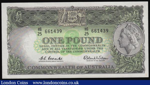 Australia One Pound 1961-65 Pick 34 EF : World Banknotes : Auction 171 : Lot 83