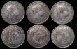 London Coins : A171 : Lot 845 : Halfcrowns (7) 1685 with a B scratched in the obverse field, and some scratches, VG or better. 1746 ...