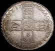 London Coins : A172 : Lot 1017 : Halfcrown 1700 DVODECIMO edge, ESC 561, Bull 1043, UNC the obverse lustrous with toning in the legen...