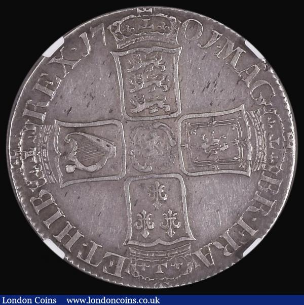 Halfcrown 1701 ESC 564, Bull 1046 NGC XF 45 a pleasing example and a hard date to fine in this higher grade : English Coins : Auction 172 : Lot 1018
