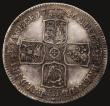 London Coins : A172 : Lot 1024 : Halfcrown 1746 LIMA ESC 606, Bull 1688 NVF with deeper scratches causing depressions to the field, t...