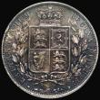 London Coins : A172 : Lot 1038 : Halfcrown 1881 ESC 707, Bull 2758 EF darkly toned, in an LCGS holder and graded LCGS 65