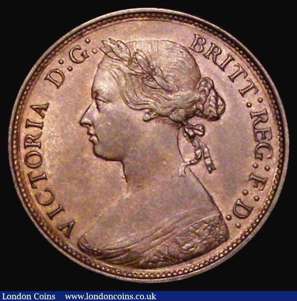 Halfpenny 1877 Freeman 332 dies 14+J EF the reverse with some light contact marks : English Coins : Auction 172 : Lot 1077