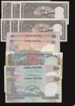 London Coins : A172 : Lot 113 : India (11) 100 Rupees (3) 1979 issue Pick 86, signature 86d, EF with staple holes, 2007 issue,  sign...