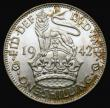 London Coins : A172 : Lot 1254 : Shilling 1942 English ESC 1463, Bull 4133 UNC with even subdued lustre enhanced by golden tone, exce...