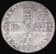 London Coins : A172 : Lot 1267 : Sixpence 1698 Plain in angles ESC 1574, Bull 1243 UNC and lustrous with a few minor haymarks, otherw...