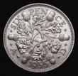 London Coins : A172 : Lot 1304 : Sixpence 1935 ESC 1824, Bull 3917 UNC with attractive and subtle toning, a superb piece, in an LCGS ...