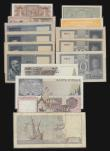 London Coins : A172 : Lot 133 : Italy (15) 5000 Lire 1968 issue Signatures Carli and Pacini Pick 98b VG, 1983 issue, signatures Ciam...