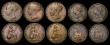 London Coins : A172 : Lot 1535 : Farthings (10) 1721 Peck 822 VG. 1842 Peck 1562 Fine with some edge nicks, scarce. 1846 Inverted 8 i...