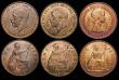 London Coins : A172 : Lot 1592 : Pennies (7) 1900 Freeman 153 dies 1+B A/UNC and lustrous with a small spot on the reverse rim, 1915 ...