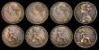 London Coins : A172 : Lot 1593 : Pennies (8) 1860 Toothed Border Freeman 13 dies 3+D Good Fine, cleaned, 1861 Freeman 33 dies 6+G Fin...