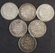 London Coins : A172 : Lot 1626 : Sixpences (6) 1846 ESC 1692, Bull 3180 Fine or better with grey tone, 1851  G's have both serif...