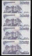 London Coins : A172 : Lot 164 : Scotland The Royal Bank of Scotland Twenty Pounds (4) 19.9.2006, 20.12.2007, 30.11.2010 and 23.5.201...
