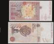London Coins : A172 : Lot 167 : Spain (2) 5000 Pesetas 12.10.1992 AU and 2000 Pesetas 24.4.1992 VF
