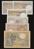 London Coins : A172 : Lot 178 : West African States 1000 Francs, Signature 10 undated issue, Pick 603Hl Near Fine with two small pin...