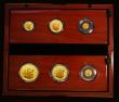 London Coins : A172 : Lot 198 : Britannia Gold Proof Set 2018 a 6-coin set S.PGB50 comprising Gold £100 One Ounce, Gold £...