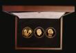 London Coins : A172 : Lot 273 : Five Pounds Gold Proofs (3) 1998, 2008 and 2018 Prince Charles 50th, 60th and 70th Birthday Gold Pro...