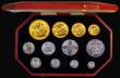 London Coins : A172 : Lot 292 : Proof Set 1911 Long Set (12 coins) Comprising Gold Five Pounds, Gold Two Pounds, Sovereign , Half So...