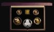 London Coins : A172 : Lot 368 : United Kingdom 1993 Pistrucci Centenary Collection a 4-coin set in gold comprising Gold Five Pounds,...