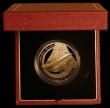London Coins : A172 : Lot 380 : Alderney Five Pounds 2003 Final Flight of Concorde KM#35b Gold Proof, FDC in the Royal Mint box of i...