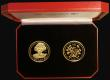 London Coins : A172 : Lot 408 : Gibraltar/Isle of Man a 2-coin set in gold Queen Elizabeth II 75th Birthday comprising Gibraltar Gol...