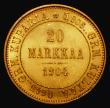 London Coins : A172 : Lot 564 : Finland 20 Markka Gold 1904L KM#9.2 A/UNC and lustrous with minor cabinet friction