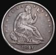 London Coins : A172 : Lot 708 : USA Half Dollar 1846 Breen 4791 Good Fine with some deeper scratches which cause depressions in the ...