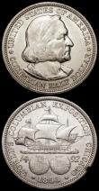 London Coins : A172 : Lot 709 : USA Half Dollar Commemoratives (2) 1892 Colombia Exposition Breen 7420 NEF, 1893 Colombian Expositio...