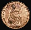 London Coins : A172 : Lot 906 : Farthing 1858 Large Date Peck 1586 UNC with around 75% mint lustre in an LCGS holder and graded LCGS...