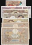 London Coins : A172 : Lot 91 : France (9) 200 Francs 1992 issue Pick 155e (2) both Near Fine, 100 Francs (4) 1937 Pick 86a VG with ...