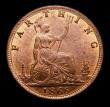 London Coins : A172 : Lot 923 : Farthing 1866 Wide 66 in date, Freeman 514 dies 3+B variant, LCGS variety 02 a choice, sharp and ori...