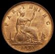 London Coins : A172 : Lot 935 : Farthing 1875H 4 Berries REG, LCGS Variety 06, in an LCGS holder and graded LCGS 82, displaying arou...