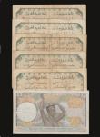 London Coins : A172 : Lot 96 : French West Africa (6) 100 Francs 1940 issue Pick 23 About Fine with some folds and staple holes, Fi...