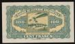 London Coins : A172 : Lot 97 : French West Africa 100 Francs World War II issue Pick 31a dated 14th December 1942 variety with seri...