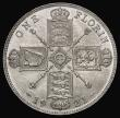 London Coins : A172 : Lot 975 : Florin 1921 ESC 940, Bull 3768, Choice UNC with hints of a colourful underlying tone, in an LCGS hol...