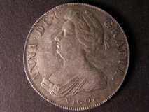 London Coins : A122 : Lot 1474 : Crown 1703 VIGO ESC 99 GVF/NEF nicely toned with light haymarking across the reverse