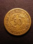 London Coins : A125 : Lot 801 : Germany Weimar Republic 50 Reichspfennig 1925 E KM 41 VF and rare
