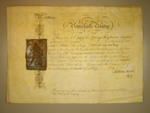 London Coins : A125 : Lot 86 : Great Britain, Vauxhall Bridge Co., certificate No.24 for five shares, 1809, printed...