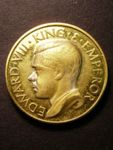 London Coins : A125 : Lot 887 : GB Pattern 1936 crown, a trial struck in brass, Obv. Edward VIII the stylised portrait for H...