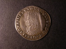 London Coins : A126 : Lot 845 : Shilling Charles II First Issue Crowned Bust no inner circle nor mark of value S3308 bold Fine but e...