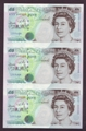 London Coins : A130 : Lot 143 : Five pounds Kentfield C108 issued 1993, an uncut trio serial AC01, ACO2 & AC03 000355...