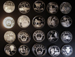 London Coins : A130 : Lot 738 : China, Proof Silver coins (20). Mint.